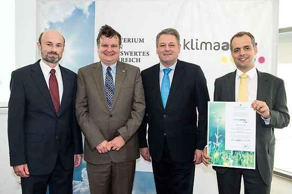 Bundesminister Rupprechter vergibt klimaaktiv Auszeichnungen