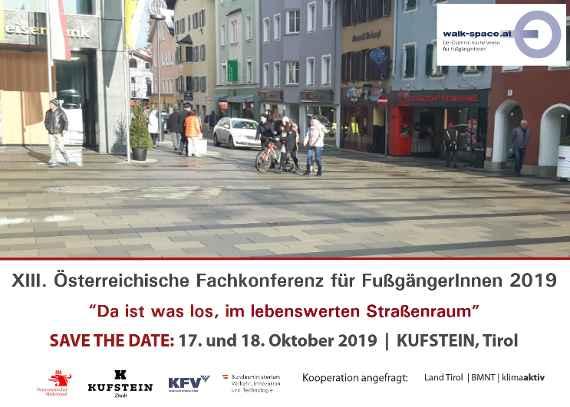 sterr. Fachkonferenz fr FugngerInnen 2019 in Kufstein