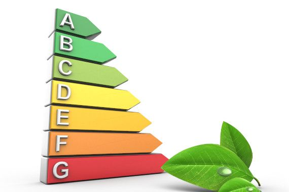 3d illustration of energy ranking over white background with leaf